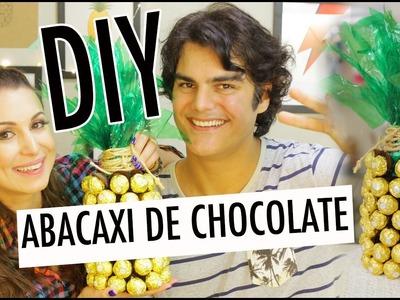 DIY: COMO FAZER UM ABACAXI DE CHOCOLATE