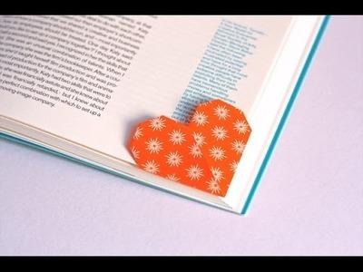 DIY FACIL marca paginas, marca livro Coracao - Faça você mesmo