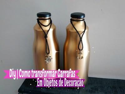 Diy | Garrafas de Vidro Decoradas | Carla Oliveira
