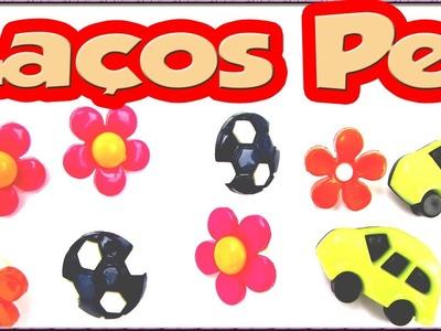 DIY Lacinho de botão infantil p. cachorro Macho e Femea