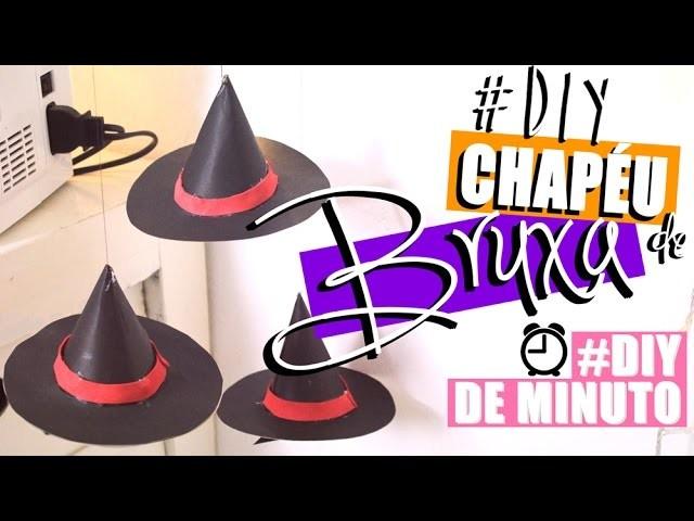 DIY: MÓBILE DE CHAPÉU DE BRUXA   #DIYdeMinuto - O Blog da Ka ♥