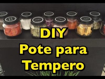 DIY POTES PARA TEMPERO
