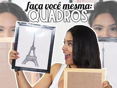 DIY: QUADRO DECORATIVO - com Thaliane Pereira