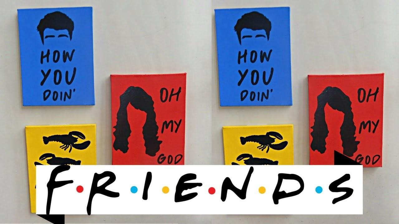 Diy: Quadros inspirados na série Friends para decorar sua parede (super fácil e baratinho).