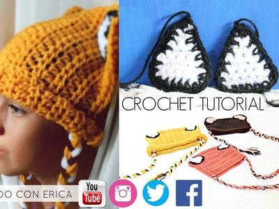 Gorrito de ZORRO FACIL Crochet Tutorial | Tejiendo Con Erica