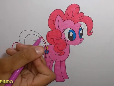 My Little Pony completo desenhos Rainbow e Pinkie pie de Mariloponey Português brasil