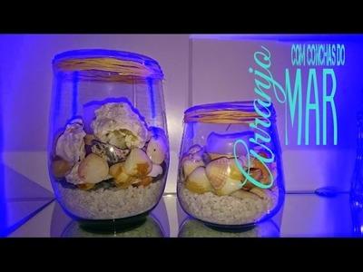 Arranjo com conchas do mar- Decoração Diy