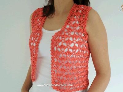 Colete de Crochê Summer - Aprendendo Croche