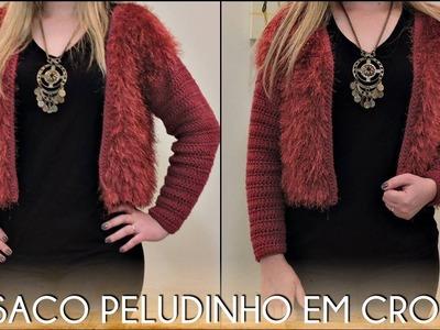 Diane Gonçalves - Casaco Pelo Fake em Crochê (COMPLETO)