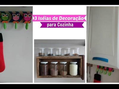 Diy | 3 Idéias de Decoração para Cozinha Gastando Pouco| Carla Oliveira