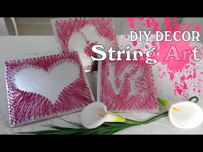 DIY DECOR :Quadros String Art    #projetodecorar