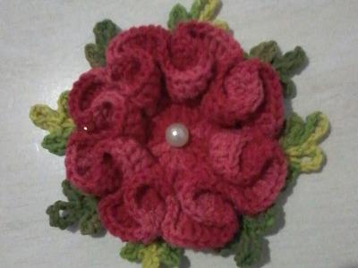 Flor Camélia em crochê