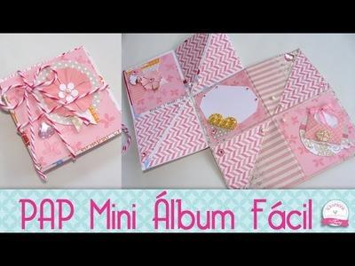 Mini álbum Scrapbook fácil- #PapelemTudo