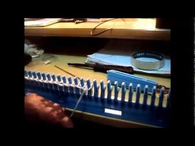 Aula - Como colocar o ponto na máquina manual - Tricotar. 01 parte