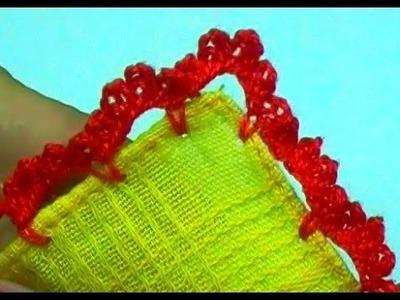 Bico em crochê para fraldas ou cueiros - CROCHÊ 47  - PASSO A PASSO