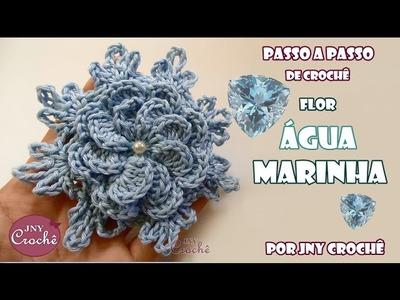 Flor Água-marinha - JNY Crochê