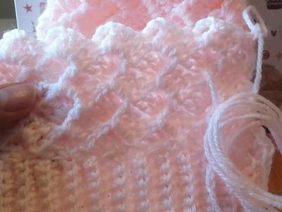Gorro de bebe 0.3 meses em croche