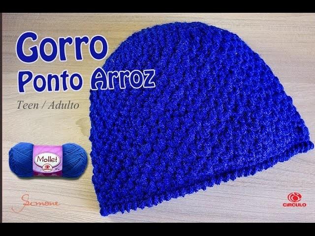 cdc5a188b670f Gorro de Crochê Ponto Arroz