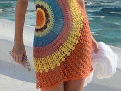 Saída de praia em crochê 6º parte com Viviane Santos
