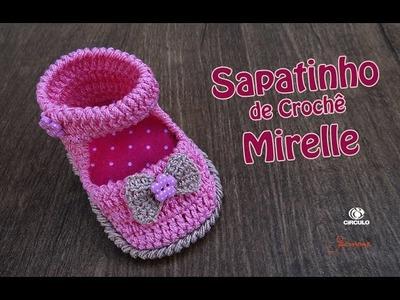 Sapatinho de Crochê Mirelle Bebê | 1 à 3 meses | Parte 2 | Simone Eleoterio