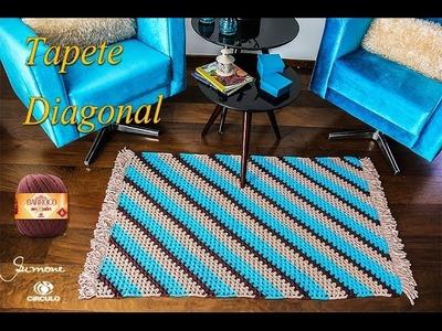 Tapete de Crochê Diagonal | Professora Simone
