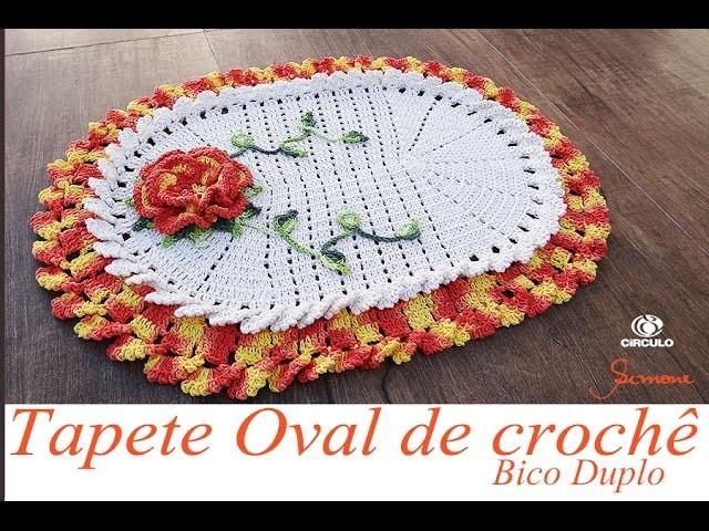 Tapete de Crochê Oval Bico Duplo | Parte 2 | Professora Simone