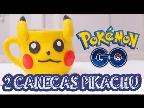 2 canecas de PIKACHU - DIY - FAÇA VOCÊ MESMO - Pokemon GO
