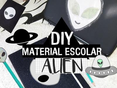 5 DIY MATERIAL ESCOLAR DE ALIEN:CADERNO,PONTEIRA,BORRACHA E MAIS|Camyla lima