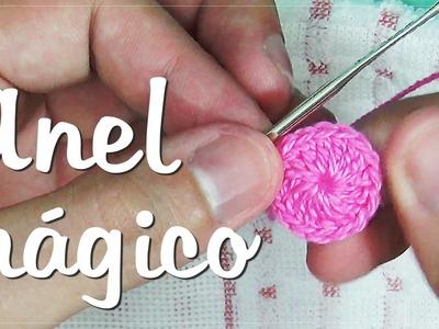 Anel mágico em crochê - (Círculo mágico)