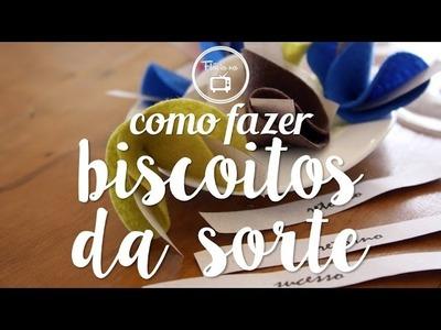 Como fazer : biscoitos da sorte em feltro | Flávia Ferrari