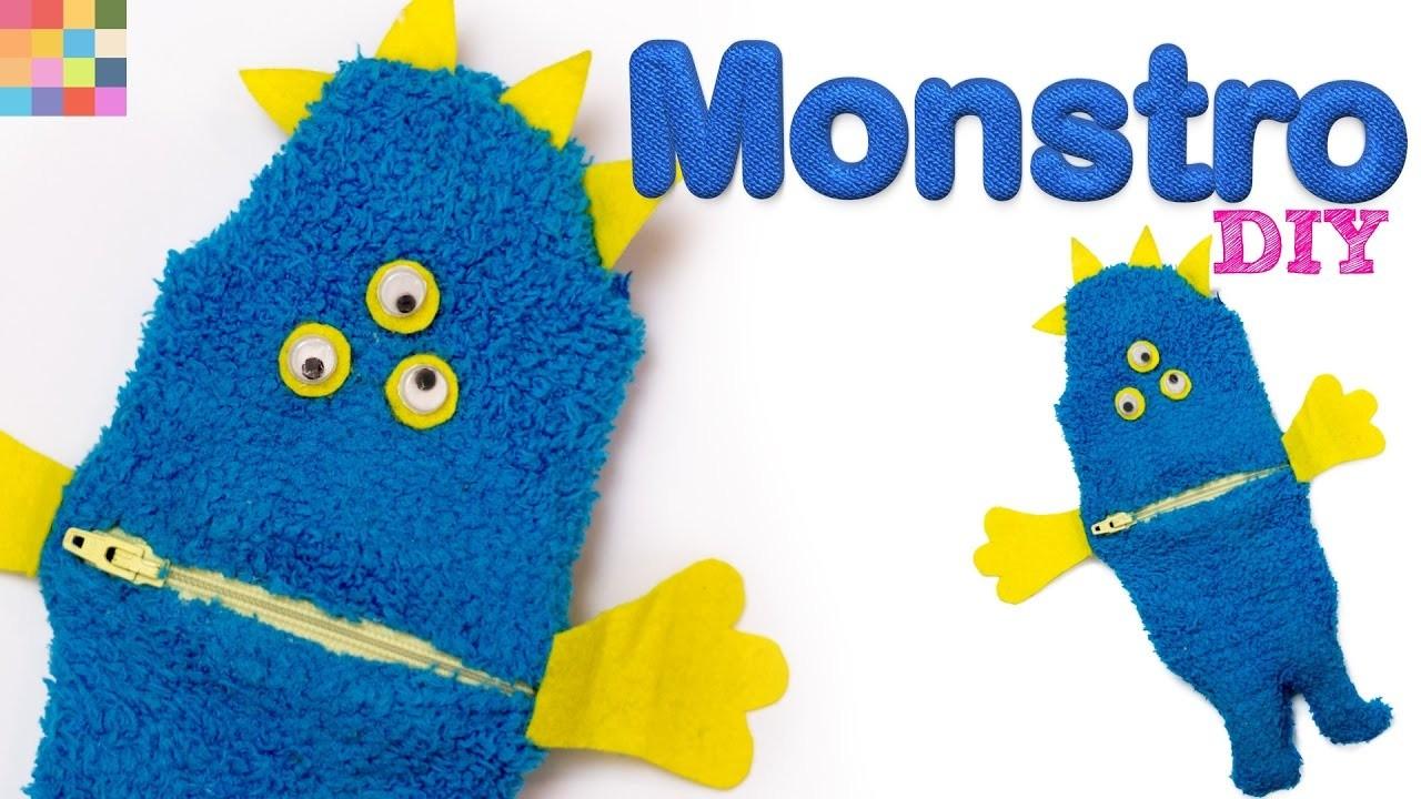 DIY - Estojo de Monstro   Material escolar criativo #2