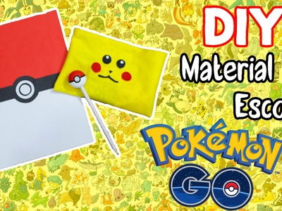 DIY - MATERIAL ESCOLAR DO POKÉMON - Volta as Aulas - ft Juuh Benício