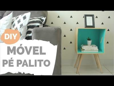 DIY | Mesinha lateral com pé palito  | Por GavetaMix