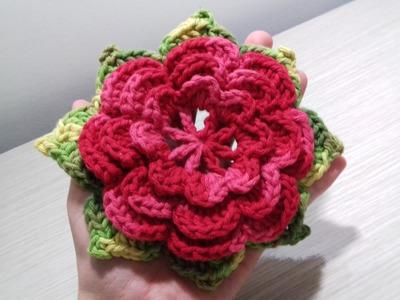 Flor  De Crochê para aplicação Mila