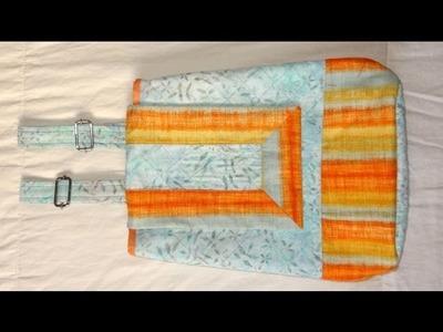 Mochila de tecido Arco Íris - Maria Adna Ateliê - Cursos e aulas de bolsas e mochilas de tecido