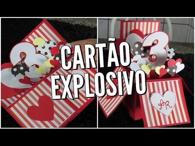 Presente criativo para o namorado | Cartão explosivo