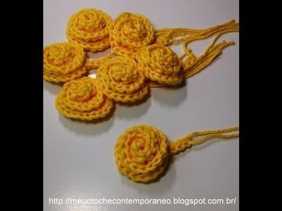 Projeto Crochê para Iniciantes   Florzinha Caracol