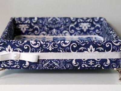 Reciclagem: Bandeja Feita com Caixa de Papelão e Tecido l Do Lixo ao Luxo