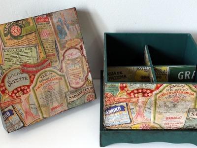 Reciclagem com Sacolinha de Papel - Como Fazer Caixas Decoradas