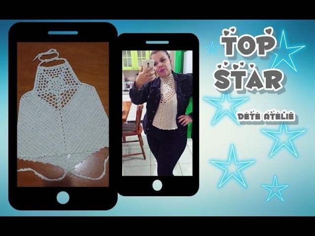Top Star (top cropped em crochê)
