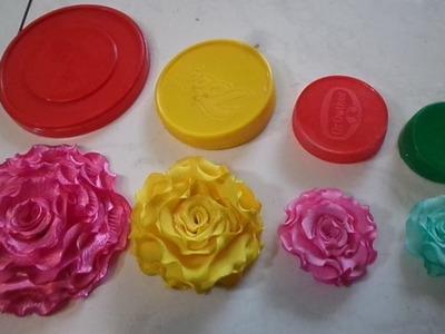 04 Flores de Tecidos Que Você vai Aprender de Forma Simples e Rápido para Tiara Broche e Cabelo