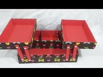 Caixa com bandejas  articuladas  DIY