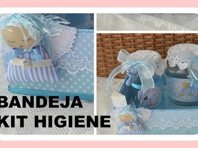 Como fazer bandeja para kit Higiene do bebe