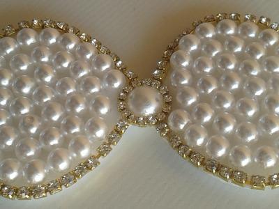 Como Fazer Bico de  pato com  Perolas ! Tie Pearls