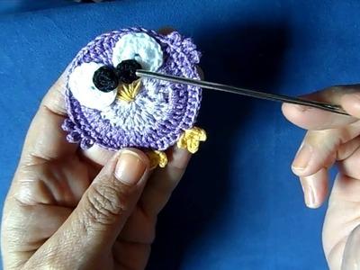 Corujinha em croche para aplicação