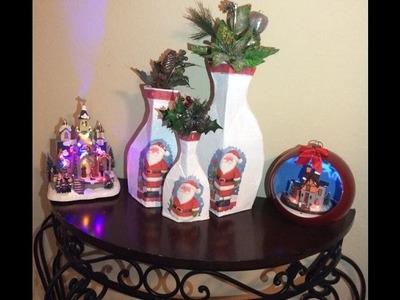 DIY floreros decorativos para navidad