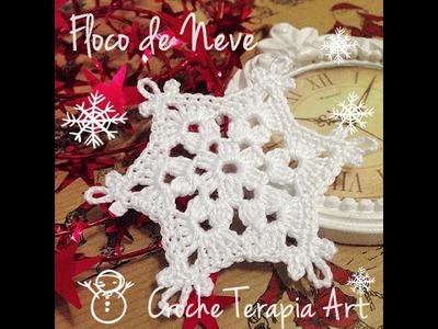 Floco de Neve Natalino em crochê - Por Croche Terapia Art