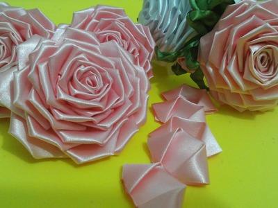 Flor de tecido - TUTORIAL da ROSA LINDAAA. todos os detalhes, montagem completa!!!Passo a Passo!!^^