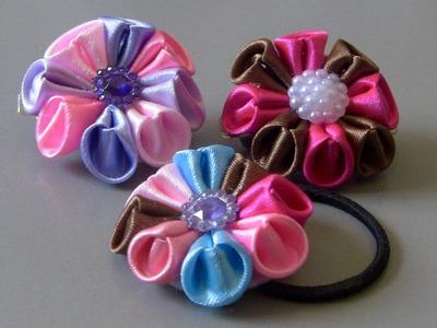 Flor facil e pratica de fazer Passo a Passo -ribbon flower