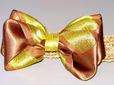 Laço de fitas com 3 camadas Passo a Passo-Tie ribbons